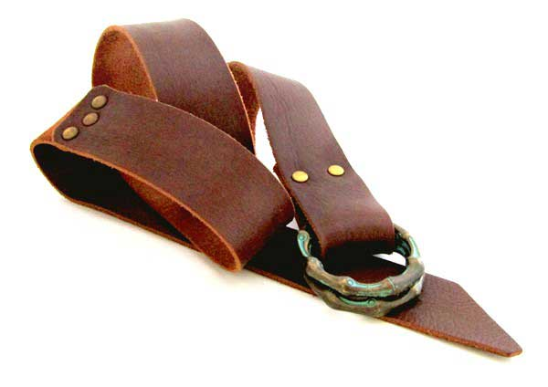 Women's leather belt