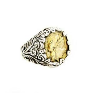 Bronze coin ring