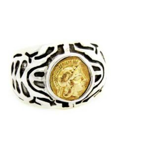bronze coin artisan ring