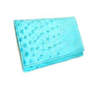 ostrich skin women's wallet