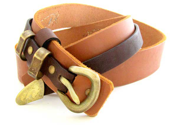 natural cow leather belt