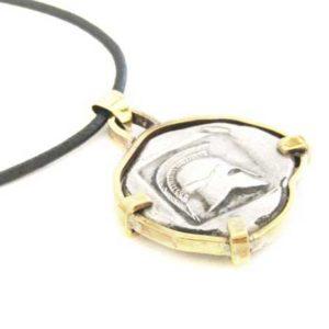 silver coin pendant