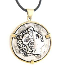 Ancient Greece coin pendant
