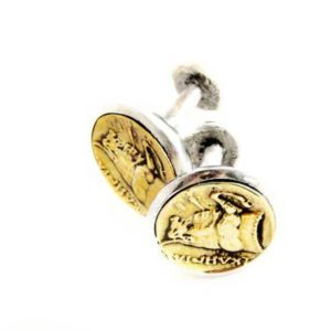 Sterling silver coin cufflinks