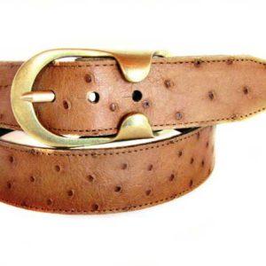 Ostrich skin belt