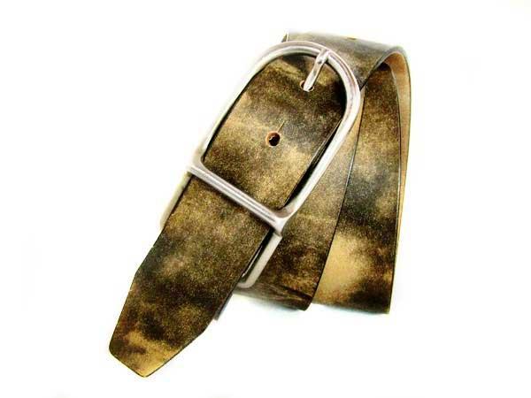 Unique leather belt