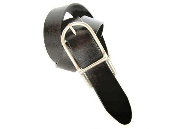 Womens black leather belt