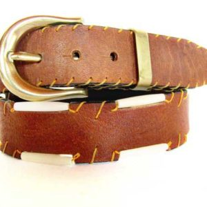 Bohemian leather belt