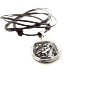 Greek coin pendant