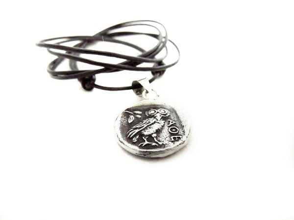Greek coin pendant