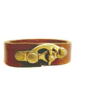 Bronze Leather Cuff