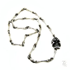 skull bones necklace