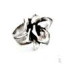 silver rose ring