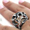 silver bohemian ring