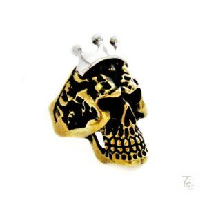 bronze skull ring